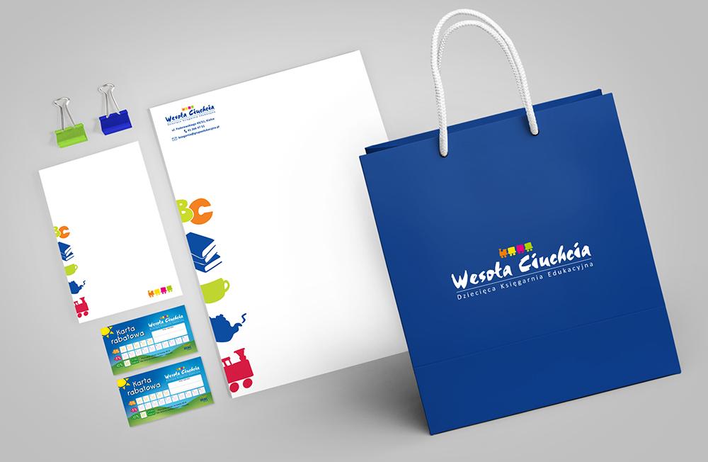 Studio XS - bloczek; notes projekt; graficzny; WESOŁA CIUCHCIA; graphic; design; project; księgarnia