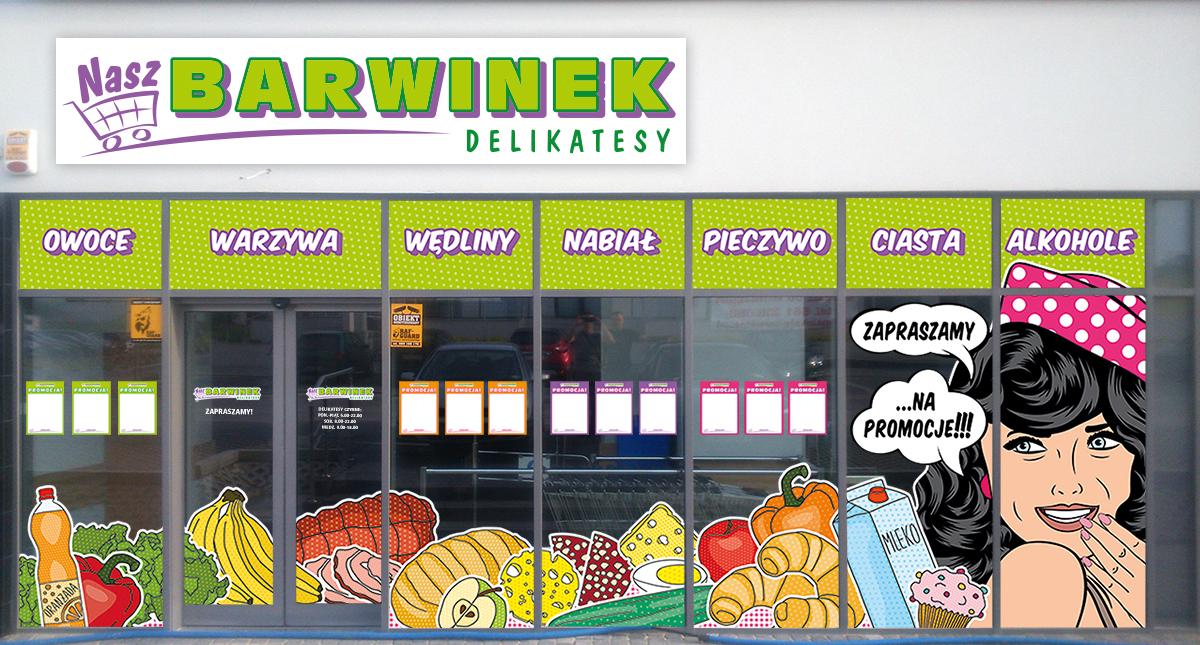 Wizualizacja projektu witryny sklepu
