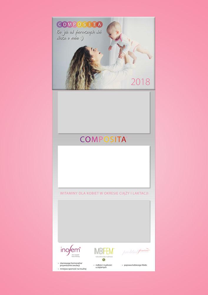 projekt kalendarza trójdzielnego Composita