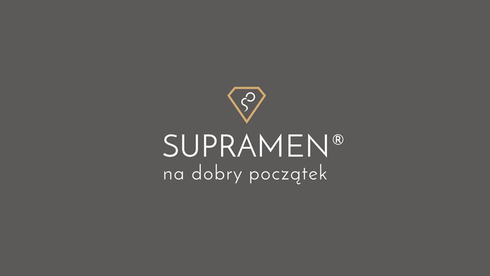 Projekt graficzny logo logotyp Supramen