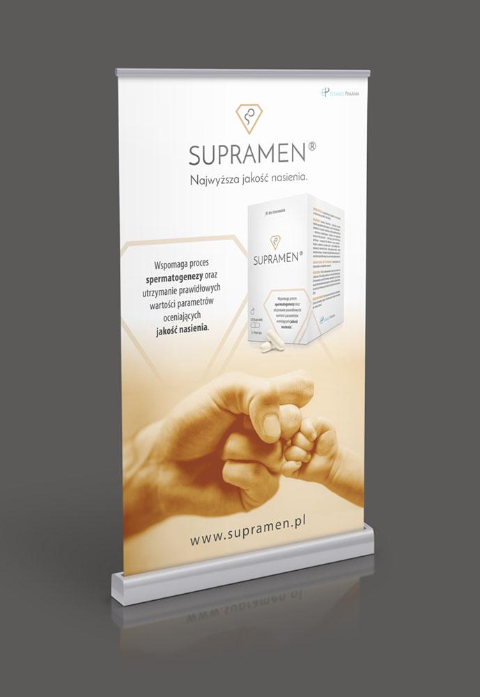 Projekt graficzny roll-up Supramen