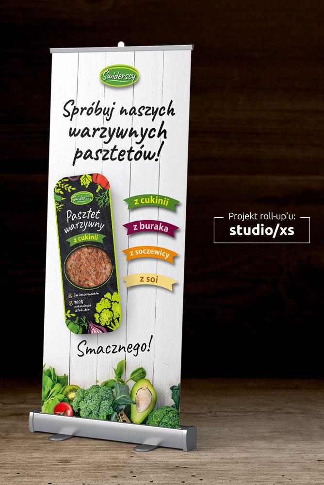 Zdjęcie przedstawia ładny projekt rollupu z pasztetem warzywnym